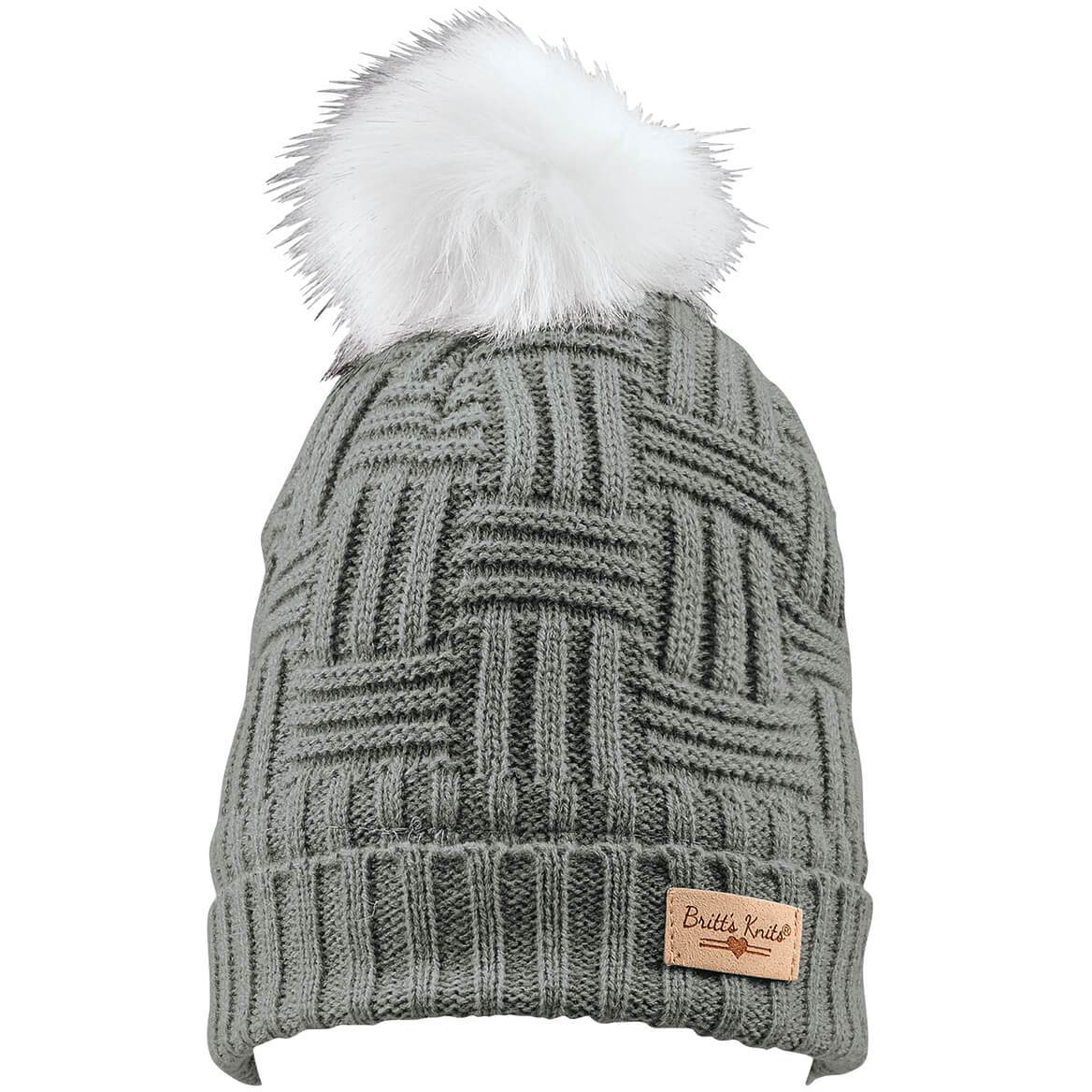 DM - Plush-Lined Knit Beanie with Pom Pom - Knock Your Socks Off