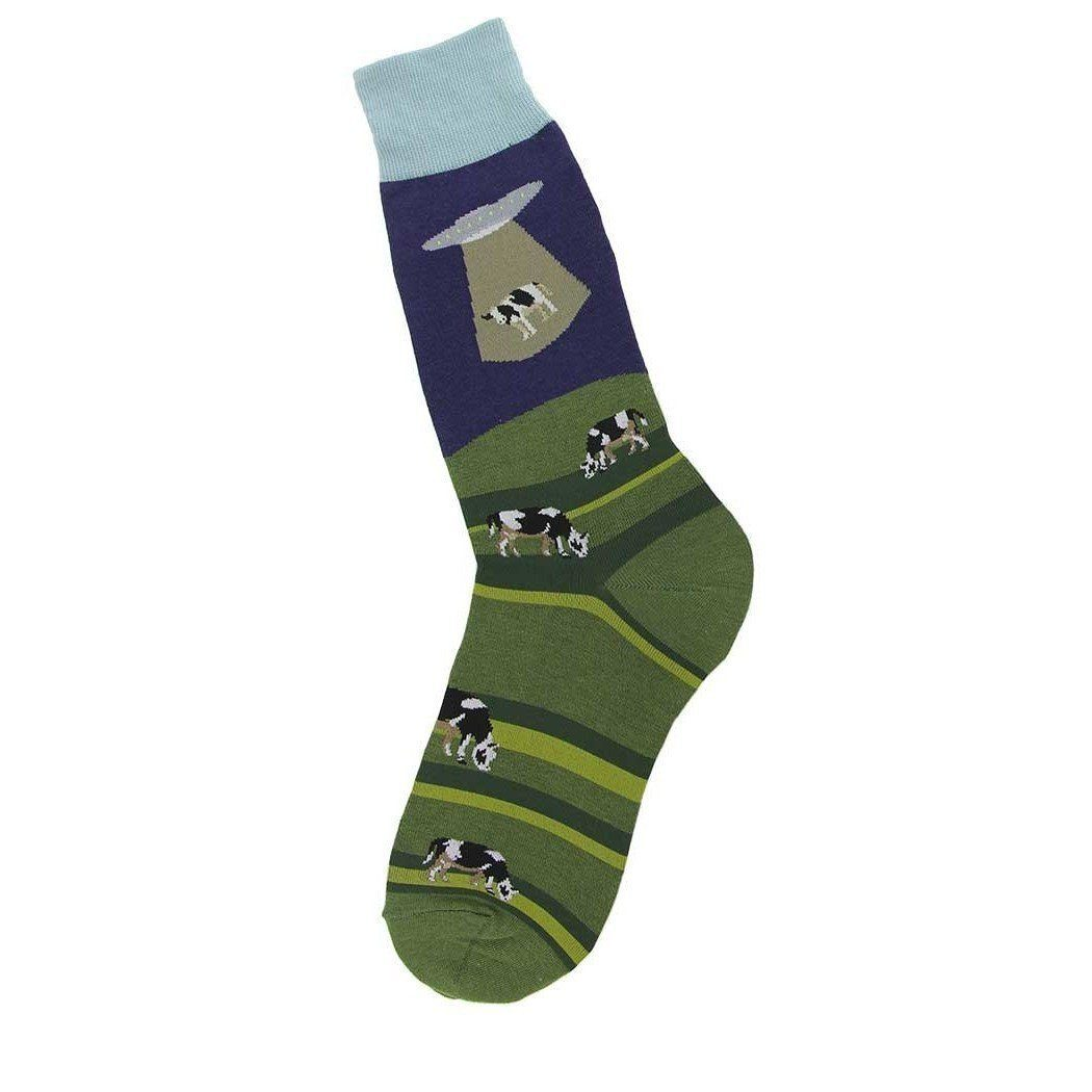 Foot Traffic - Alien Abduction Crew Socks | Men's - Knock Your Socks Off
