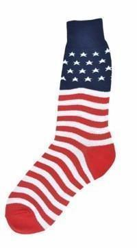 Foot Traffic - American Flag Crew Socks | Men's - Knock Your Socks Off
