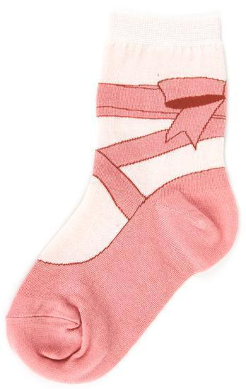 Foot Traffic - Ballet Crew Socks | Kids' - Knock Your Socks Off