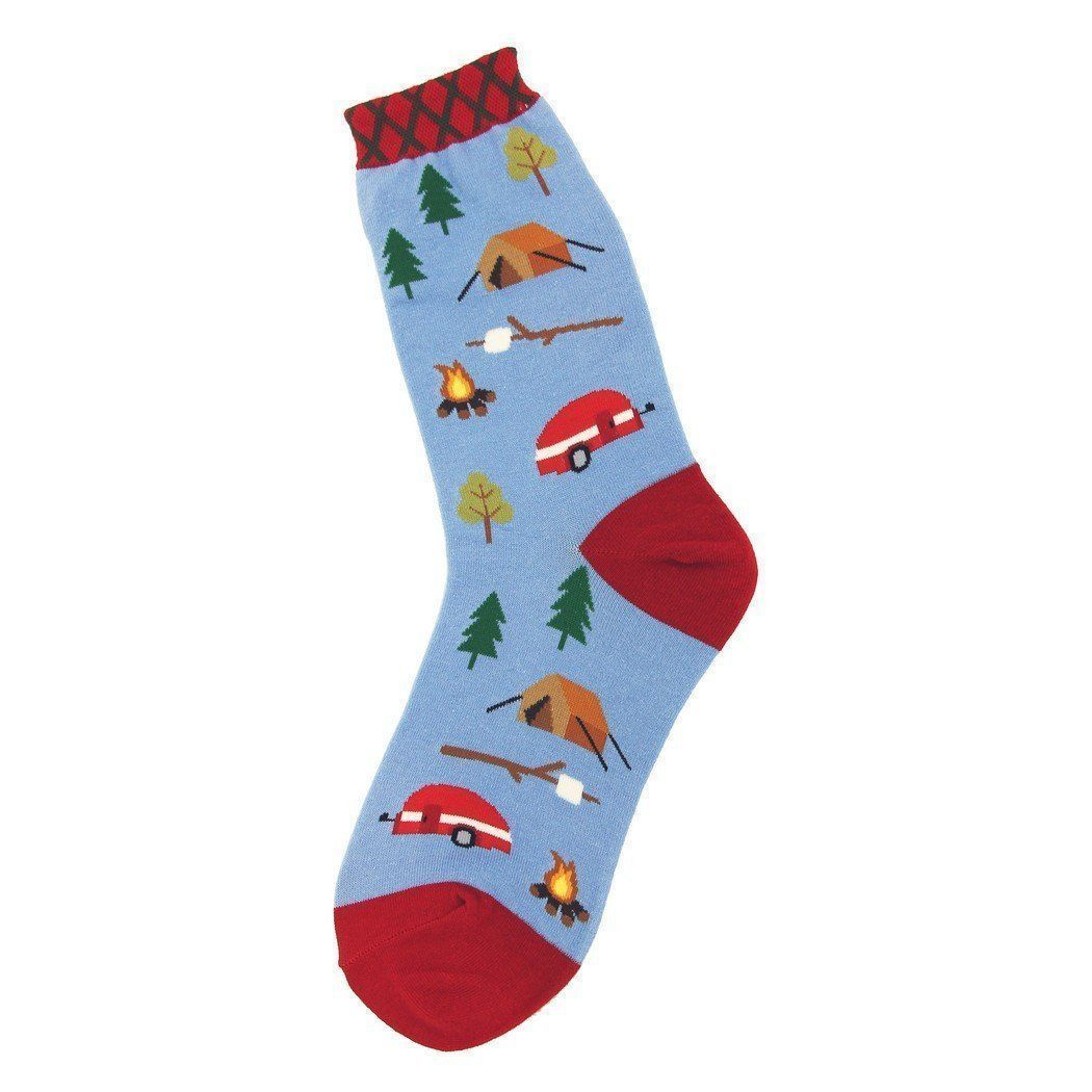 Foot Traffic - Camping Crew Socks | Women's - Knock Your Socks Off