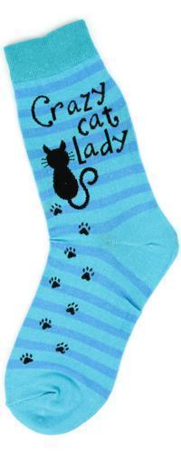 Foot Traffic - Cat Lady Crew Socks | Women's - Knock Your Socks Off