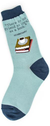 Foot Traffic - Loyal Books Crew Socks | Women's - Knock Your Socks Off