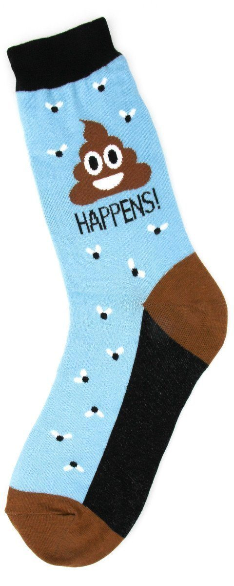 Foot Traffic - Poop Happens Crew Socks | Women's - Knock Your Socks Off