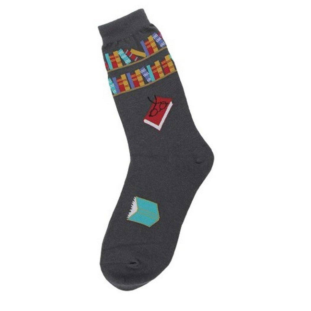Foot Traffic - Reading Books Crew Socks | Women's - Knock Your Socks Off