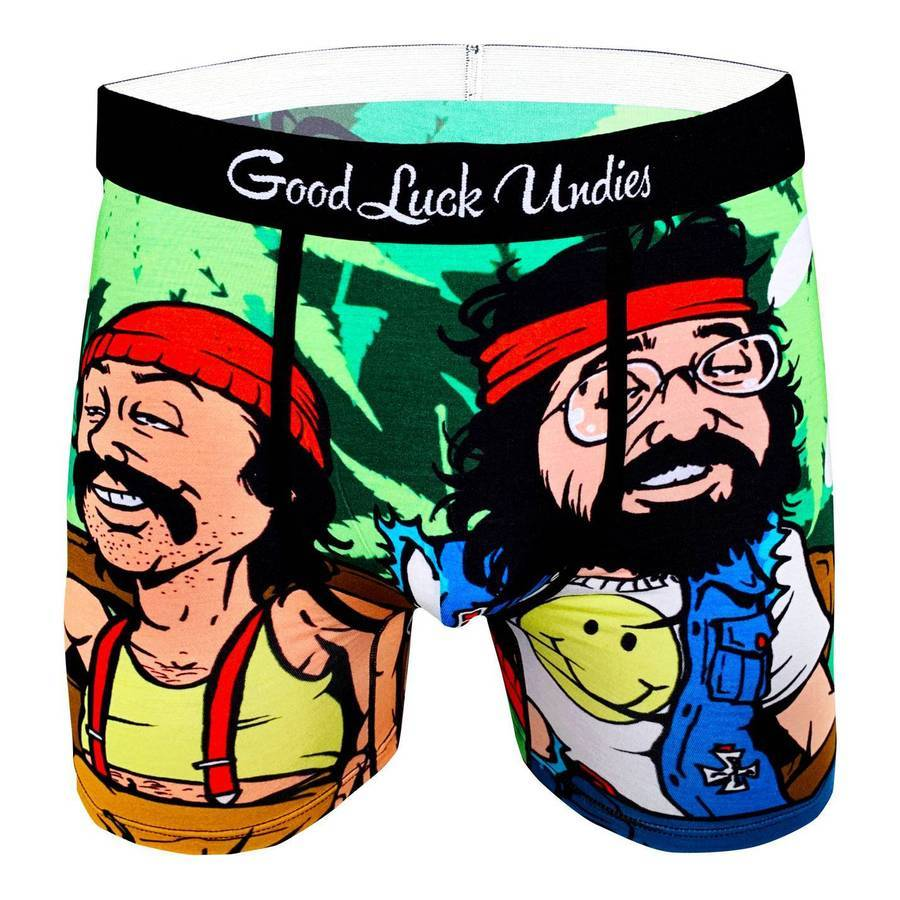 Good Luck Sock - Cheech & Chong On Couch Underwear - Knock Your Socks Off