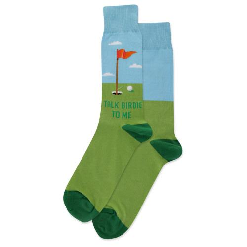 HOT SOX - Talk Birdie to Me Crew Socks | Men's - Knock Your Socks Off