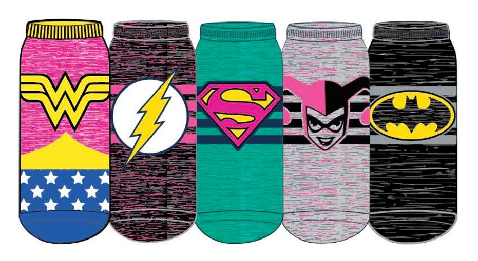 HYP - DC Comics 5-pack Ankle Socks | Women's - Knock Your Socks Off