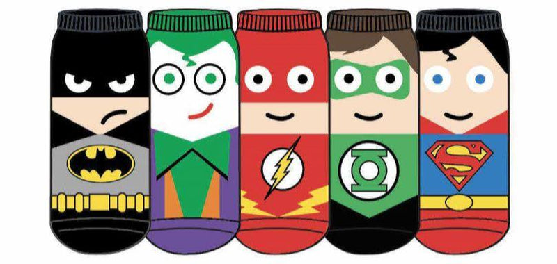 HYP - DC Comics Characters 5-pack Ankle Socks | Women's - Knock Your Socks Off