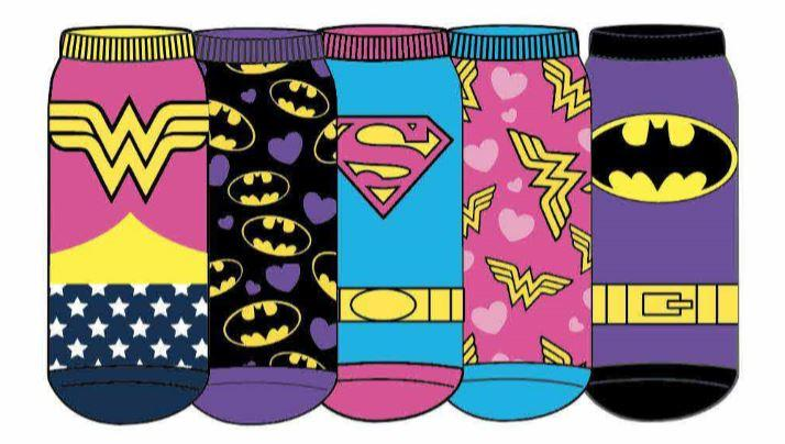 HYP - DC Comics: Justice League 5-pack Ankle Socks | Women's - Knock Your Socks Off