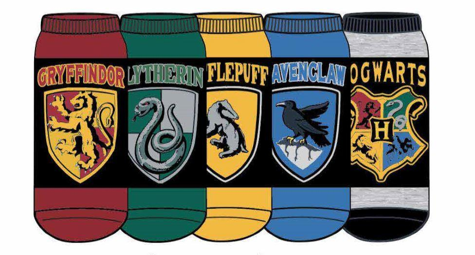 HYP - Harry Potter Houses 5-pack Multicolored Ankle Socks | Women's - Knock Your Socks Off