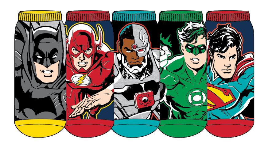 HYP - Justice League 5-pack Ankle Socks | Kid's - Knock Your Socks Off