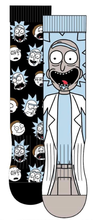 HYP - Rick and Morty 2-pack Crew Socks | Men's - Knock Your Socks Off