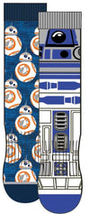 HYP - Star Wars: R2D2 and BB8 2-pack Crew Socks | Men's - Knock Your Socks Off