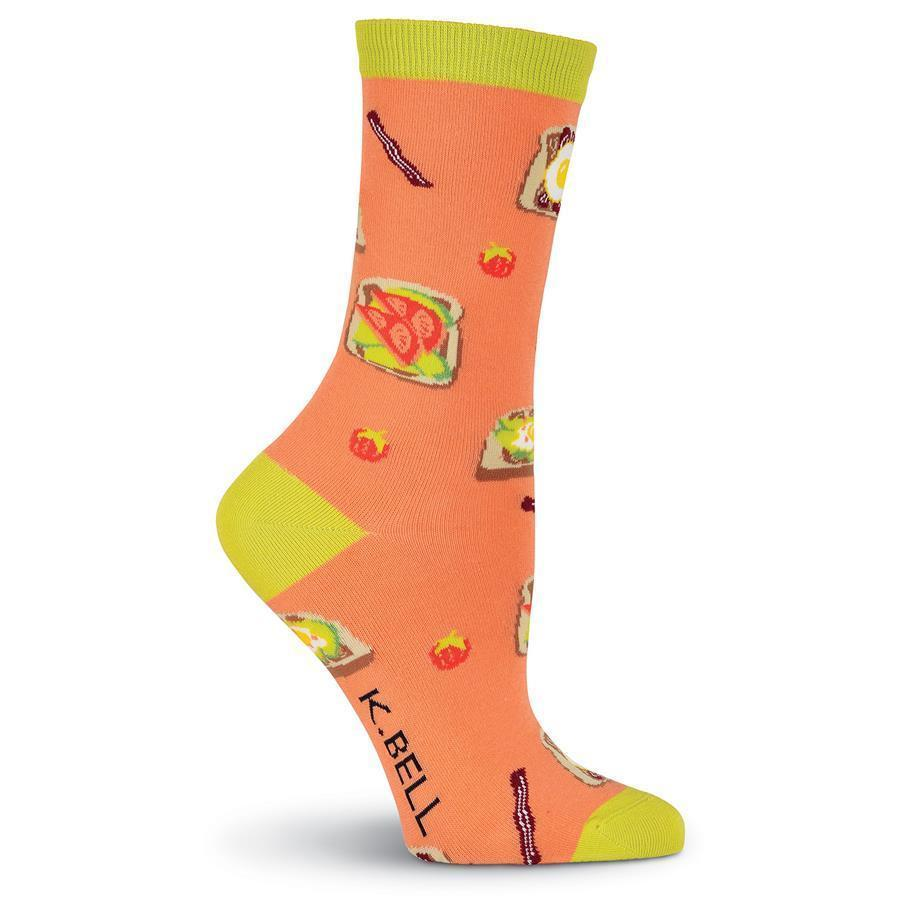 K. Bell - Avocado Toast Crew Socks | Women's - Knock Your Socks Off