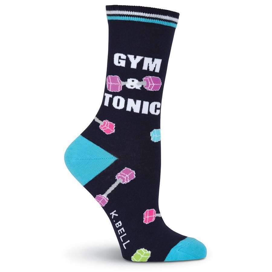 K. Bell - Gym & Tonic Crew Socks | Women's - Knock Your Socks Off