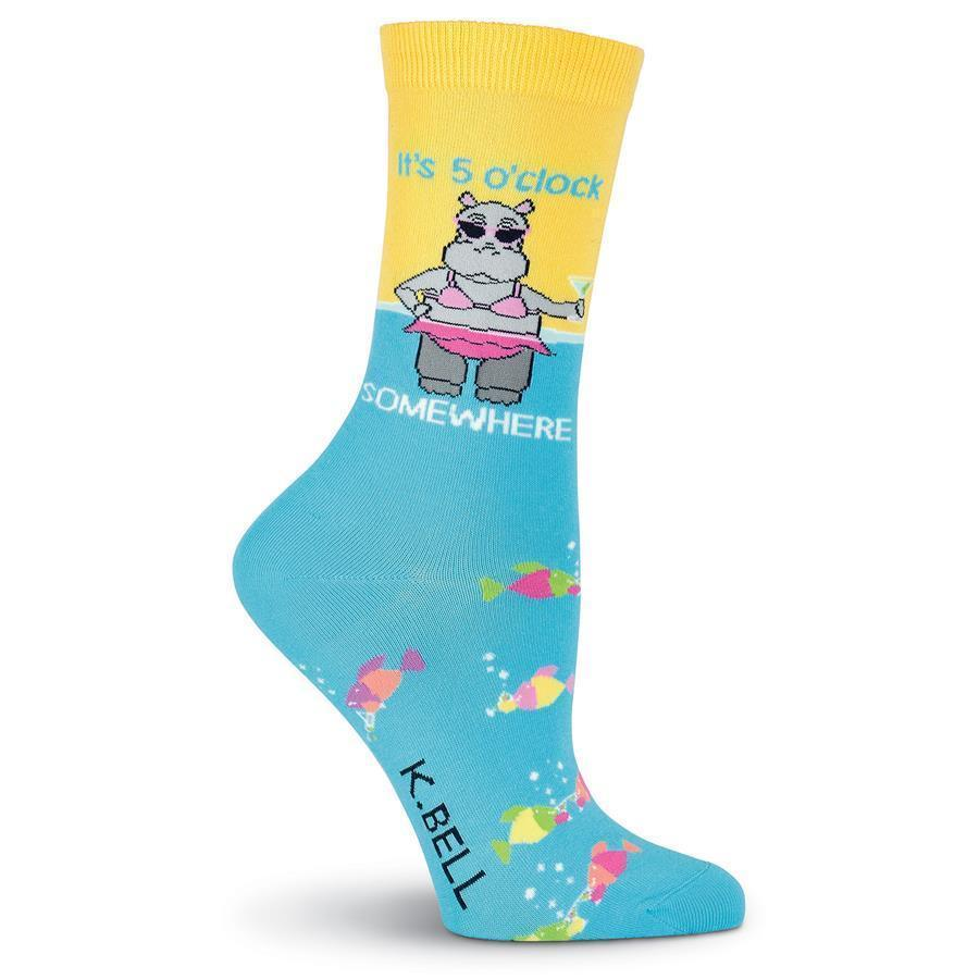 K. Bell - It's 5 o'clock Somewhere Crew Socks | Women's - Knock Your Socks Off