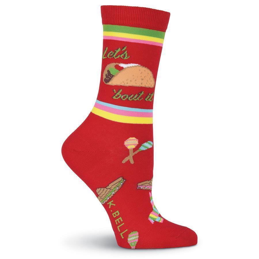 K. Bell - Let's Taco 'bout It Crew Socks | Women's - Knock Your Socks Off