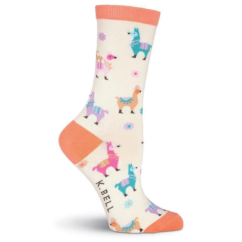 K. Bell - Llamas Crew Socks | Women's - Knock Your Socks Off