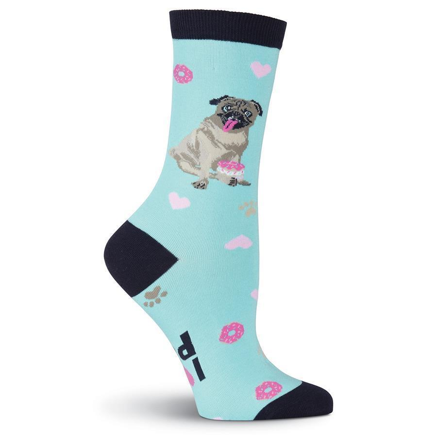 K. Bell - Pug Crew Socks | Women's - Knock Your Socks Off
