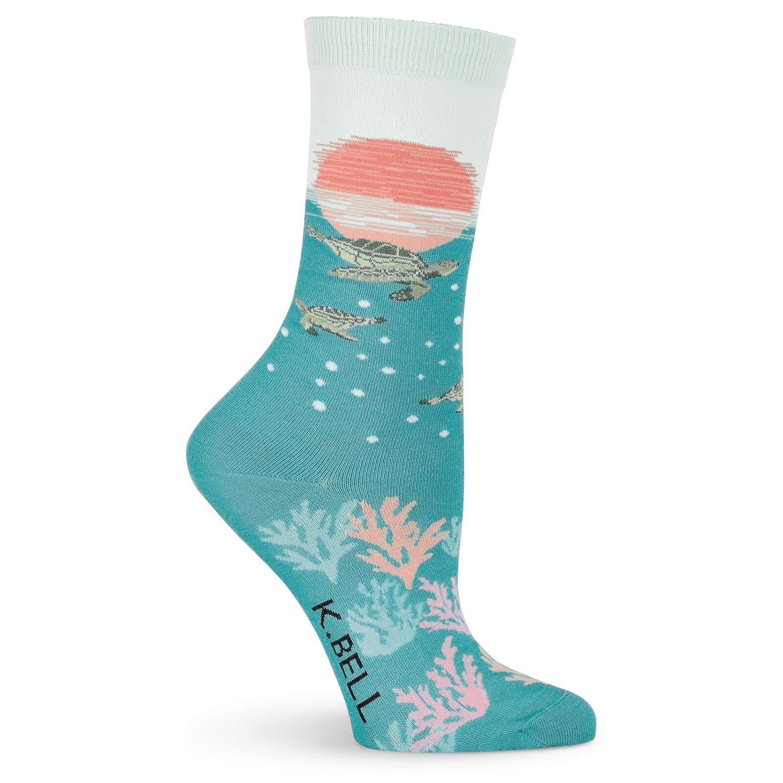 K. Bell - Sea Turtles Crew Socks | Women's - Knock Your Socks Off