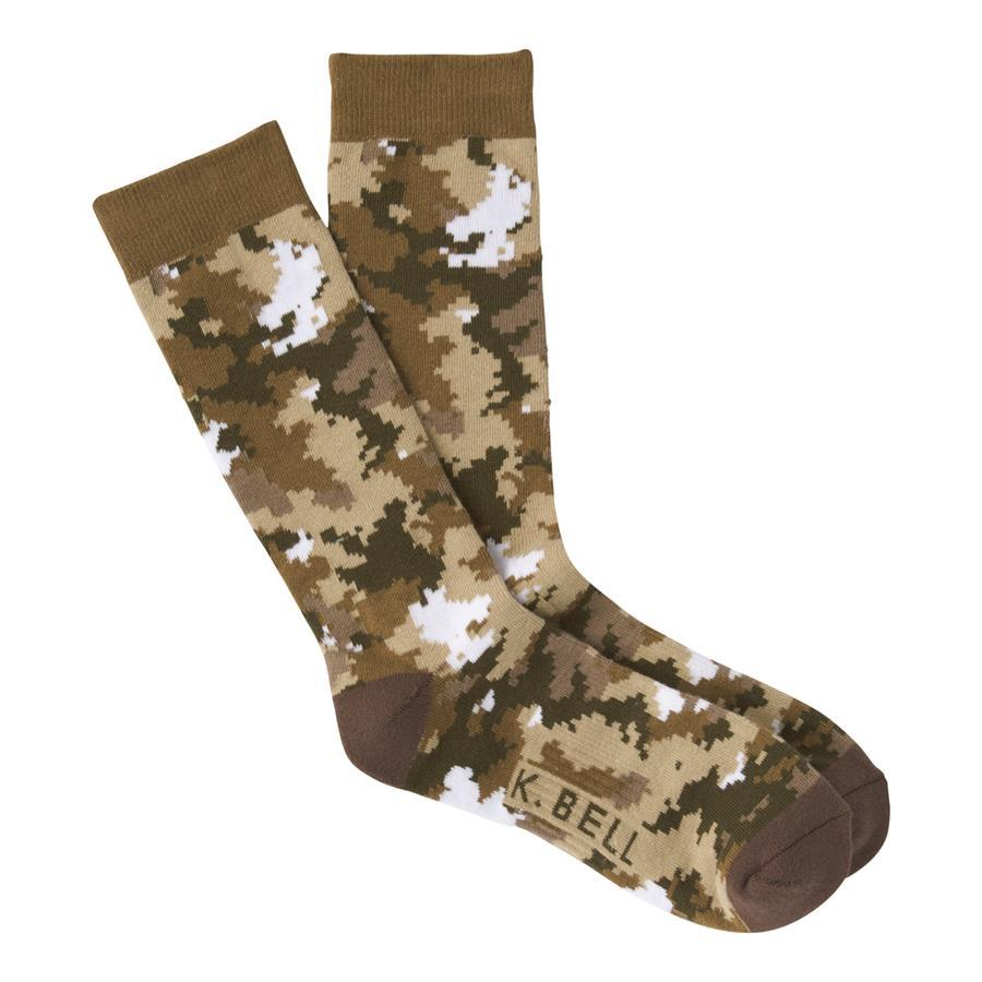 K.Bell - Digital Camo Crew Socks | Men's - Knock Your Socks Off