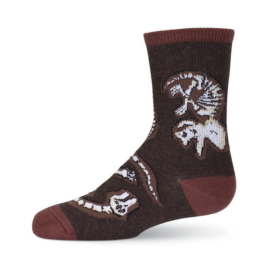 K.Bell - Dino Bones Crew Socks | Kids' - Knock Your Socks Off