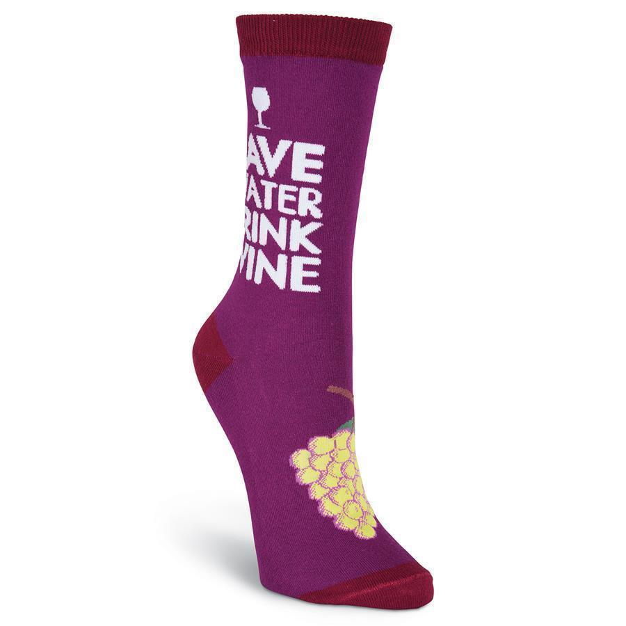 K.Bell - Drink Wine Crew Socks | Women's - Knock Your Socks Off