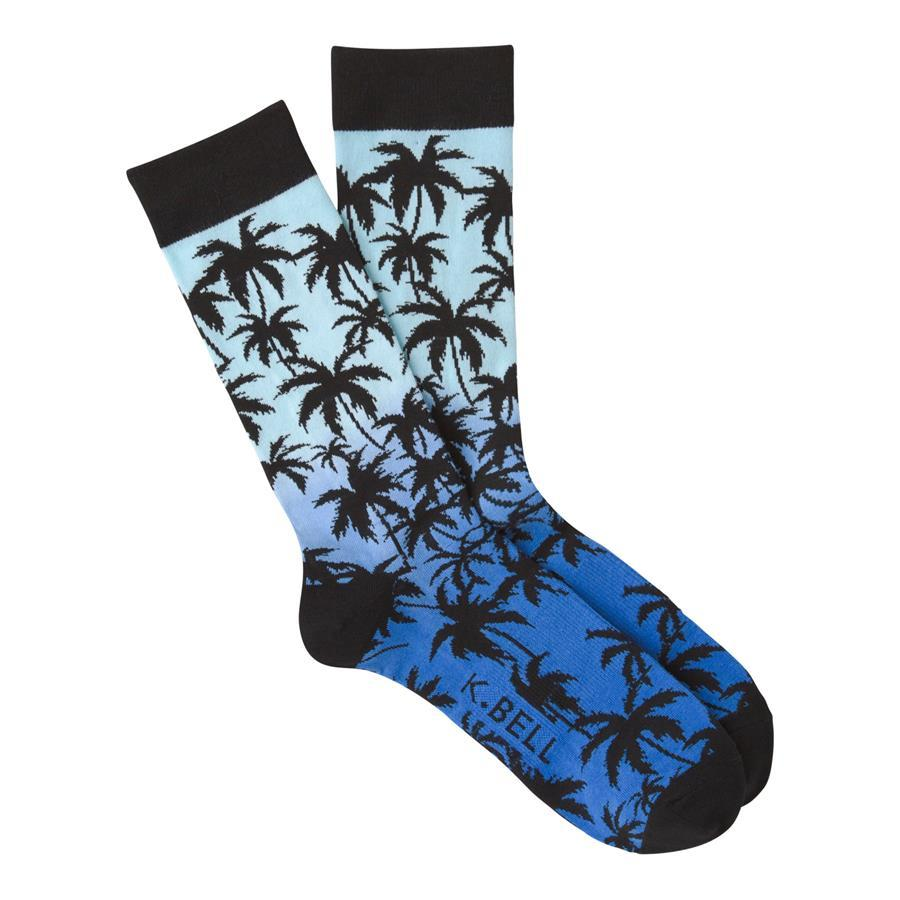K.Bell - Palm Crew Socks | Men's - Knock Your Socks Off