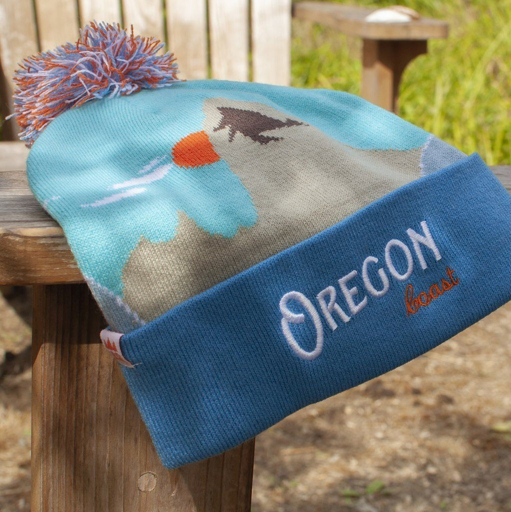 Little Bay Root - Oregon Coast Knit Beanie with Pom Pom - Knock Your Socks Off