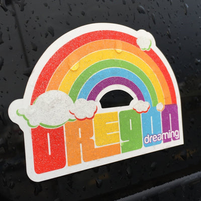 Little Bay Root - Oregon Dreaming Rainbow Sticker - Knock Your Socks Off