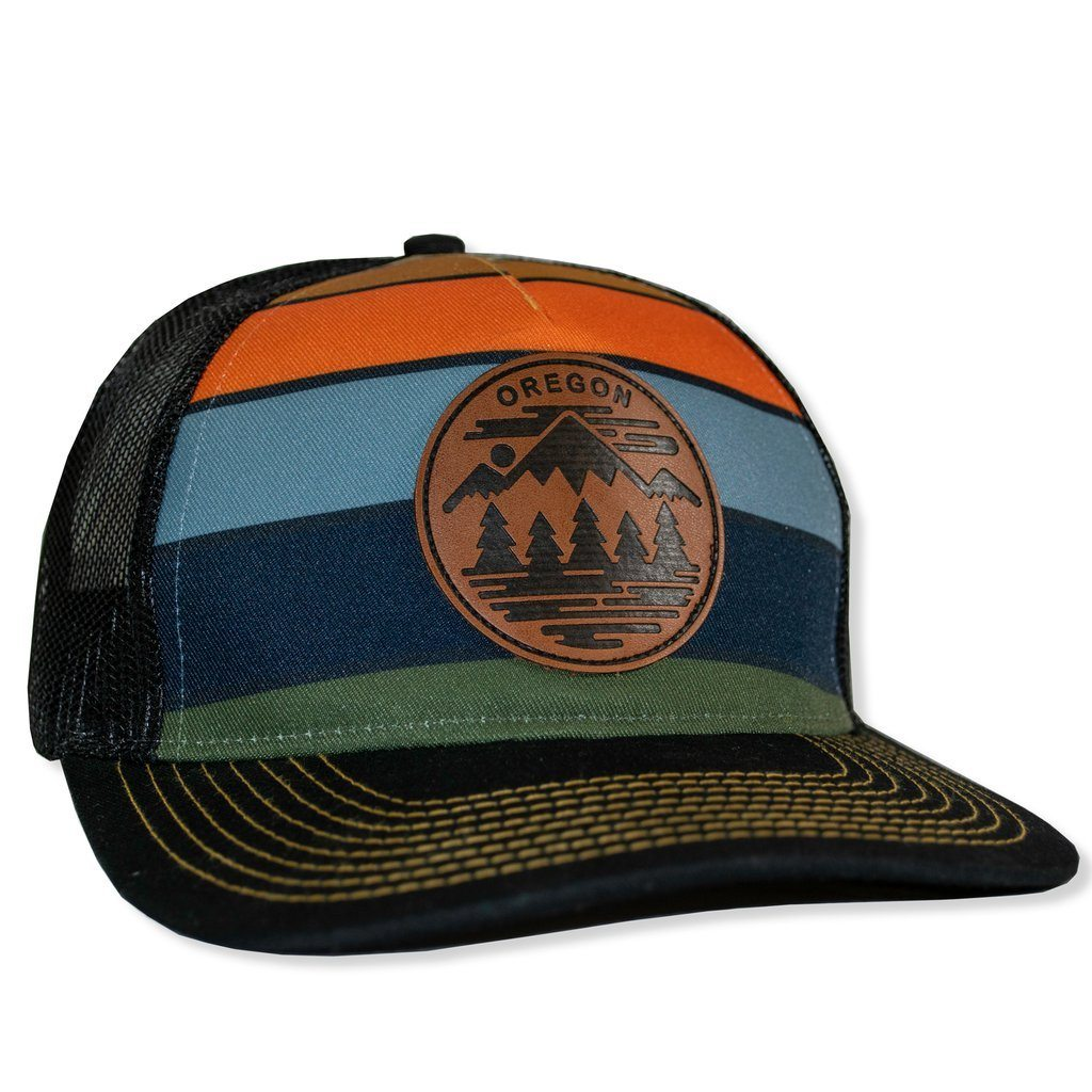 Little Bay Root - Oregon Fifty Ranges Curved Bill Trucker Hat - Knock Your Socks Off