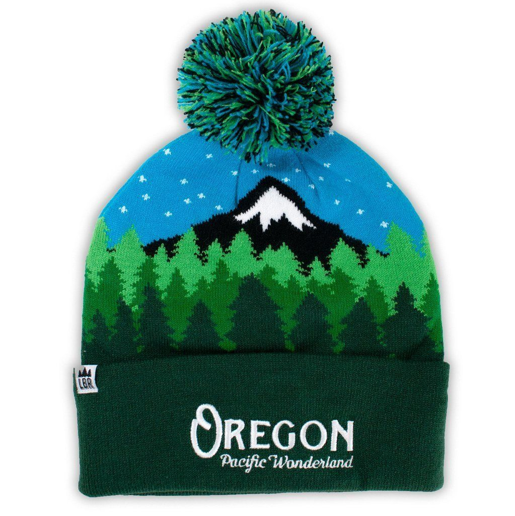 Little Bay Root - Oregon Pacific Wonderland Beanie with Pom Pom - Knock Your Socks Off