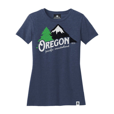 Little Bay Root - Oregon Pacific Wonderland Crewneck T-Shirt | Women's - Knock Your Socks Off
