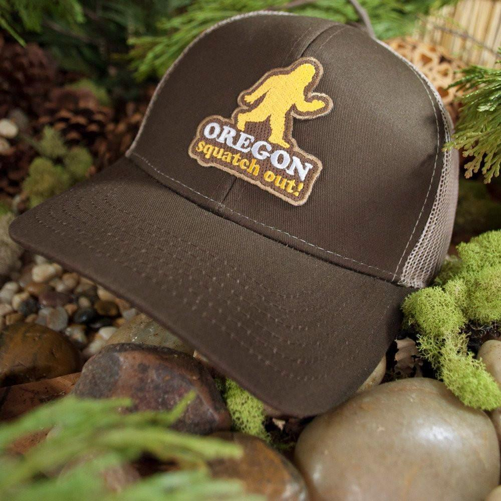 Little Bay Root - Oregon Squatch Out! Curved Bill Trucker Hat - Knock Your Socks Off