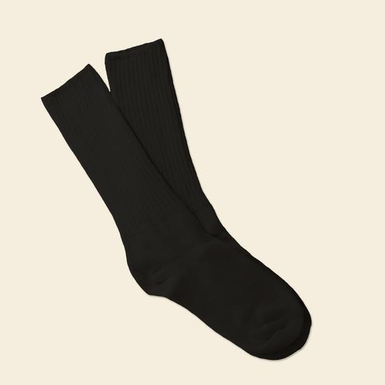 Maggie's Organics - Black Organic Cotton Allergy Crew Socks | Women's - Knock Your Socks Off