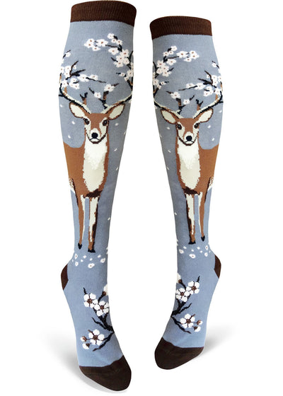 ModSock - Antler Blossoms Knee High Socks | Women's - Knock Your Socks Off