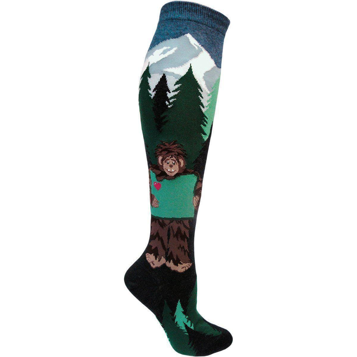 ModSock - Sasquatch Loves Oregon Knee High Socks | Women's - Knock Your Socks Off