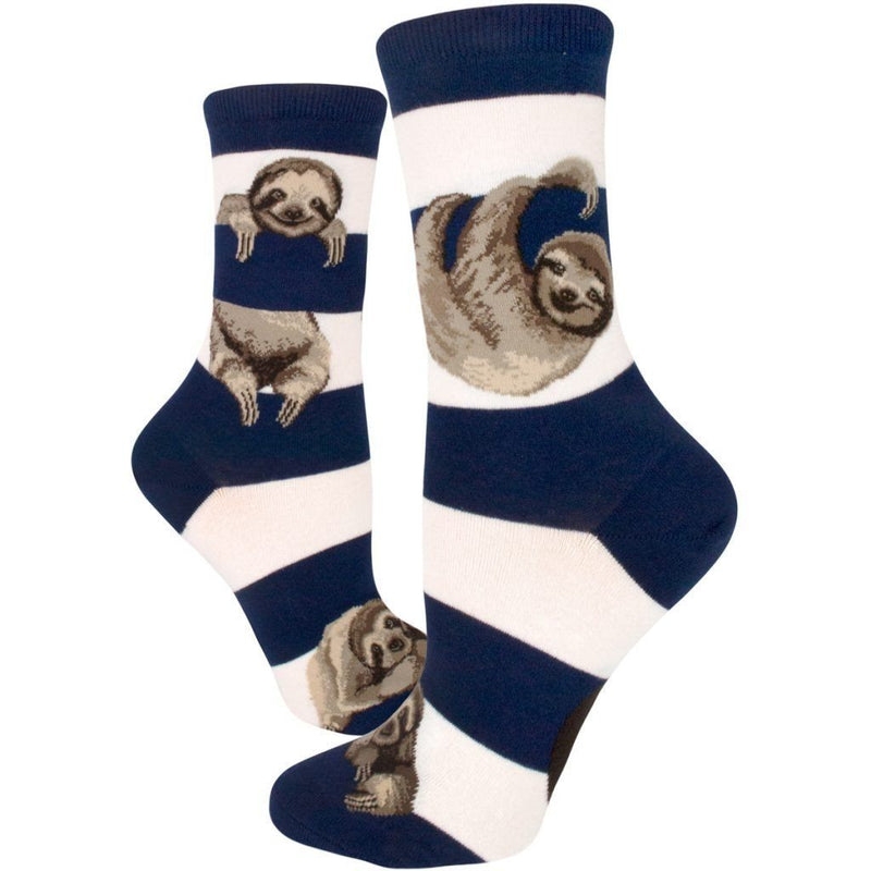 ModSock - Sloth Stripe Crew Socks | Women's - Knock Your Socks Off