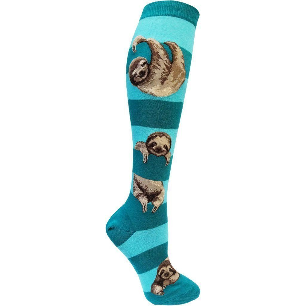 ModSock - Sloth Stripe Knee High Socks | Women's - Knock Your Socks Off