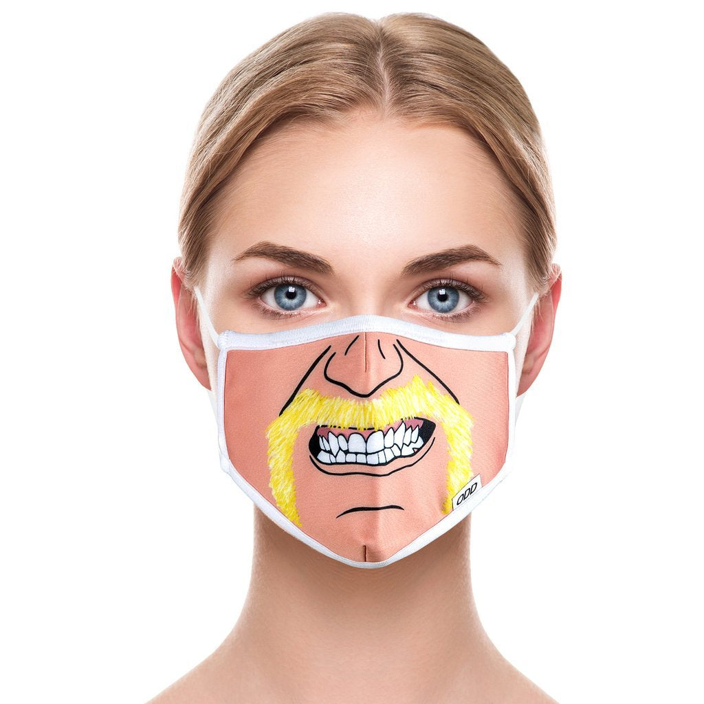 ODD SOX - Hulk Hogan Cartoon Mask - Knock Your Socks Off