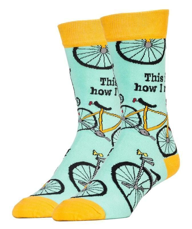 Oooh Geez! - How I Roll Crew Socks | Men's - Knock Your Socks Off