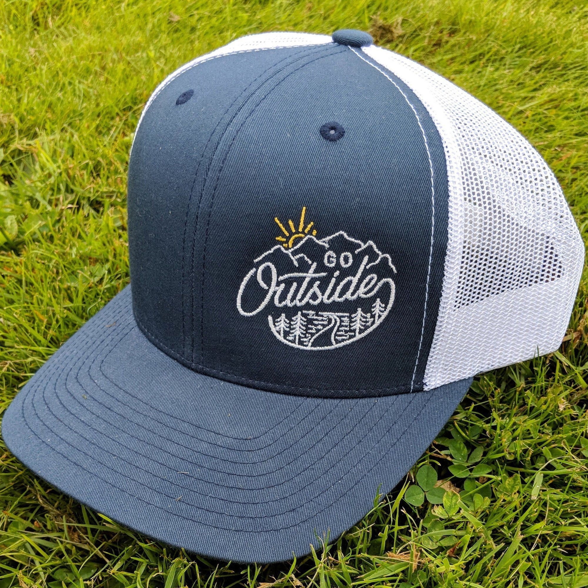SNW - Go Outside Snapback Curved Bill Trucker Hat - Knock Your Socks Off
