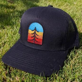 SNW - Tree Crest Snapback Curved Bill Trucker Hat - Knock Your Socks Off