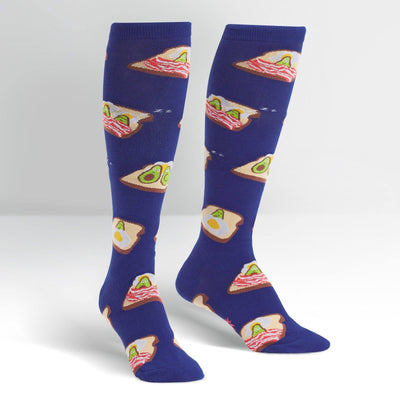Sock It To Me - Breakfast in Bed Knee High Socks | Women's - Knock Your Socks Off
