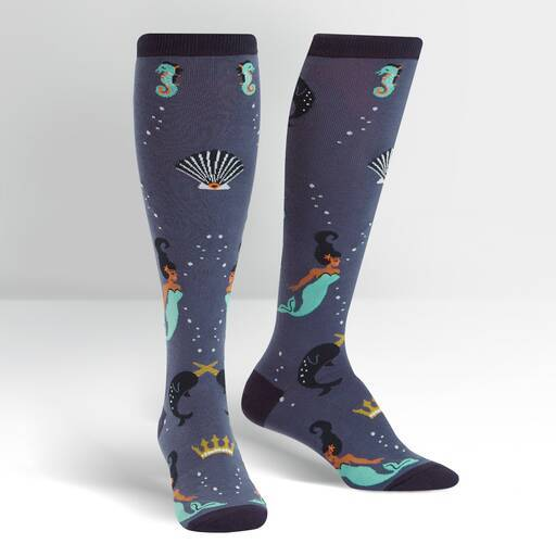 Sock It To Me - Deep Sea Queen Knee High Socks | Women's - Knock Your Socks Off