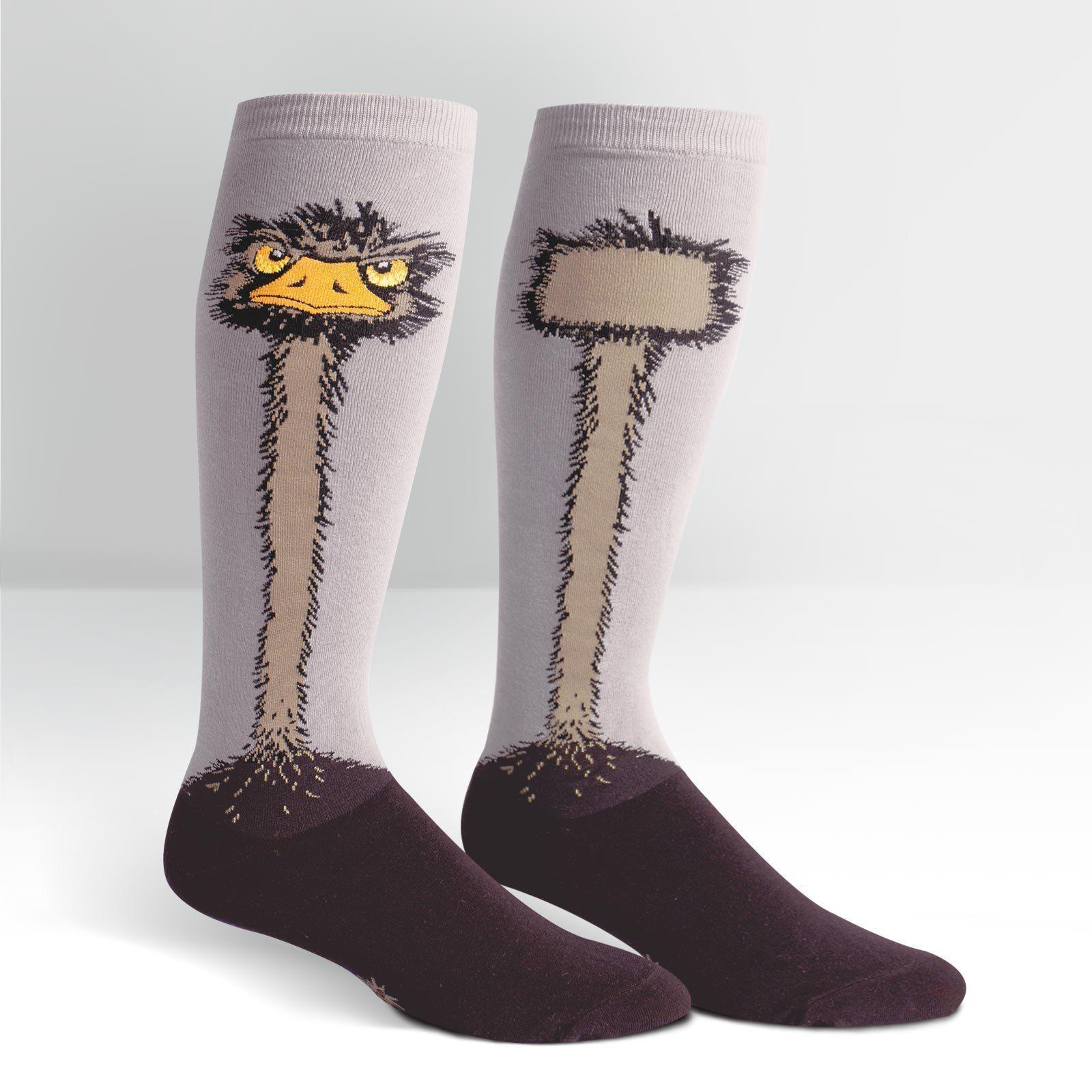 Sock It To Me - Ostrich Knee High Socks | Women's - Knock Your Socks Off