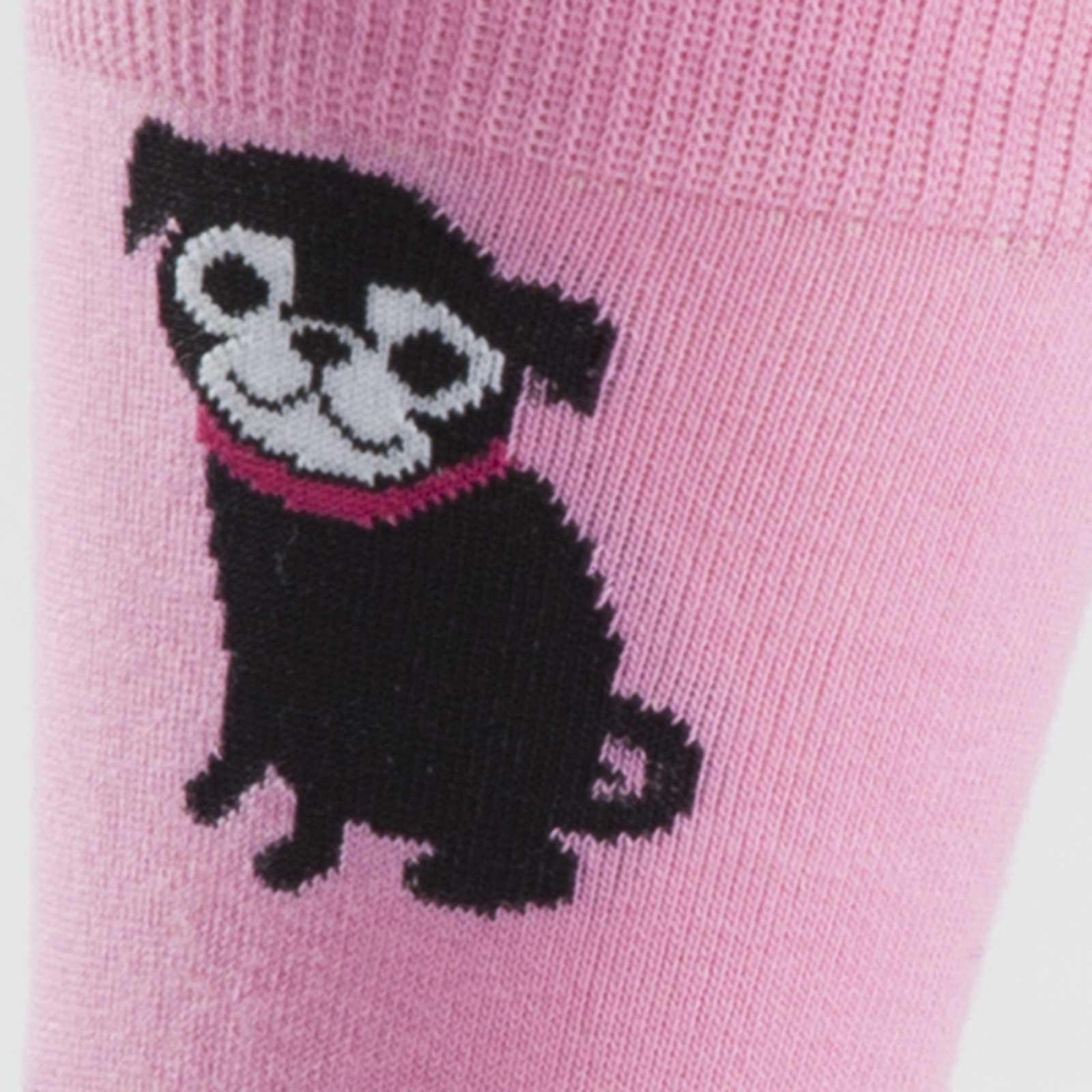 Sock It To Me - Pink Pug Crew Socks | Women's - Knock Your Socks Off