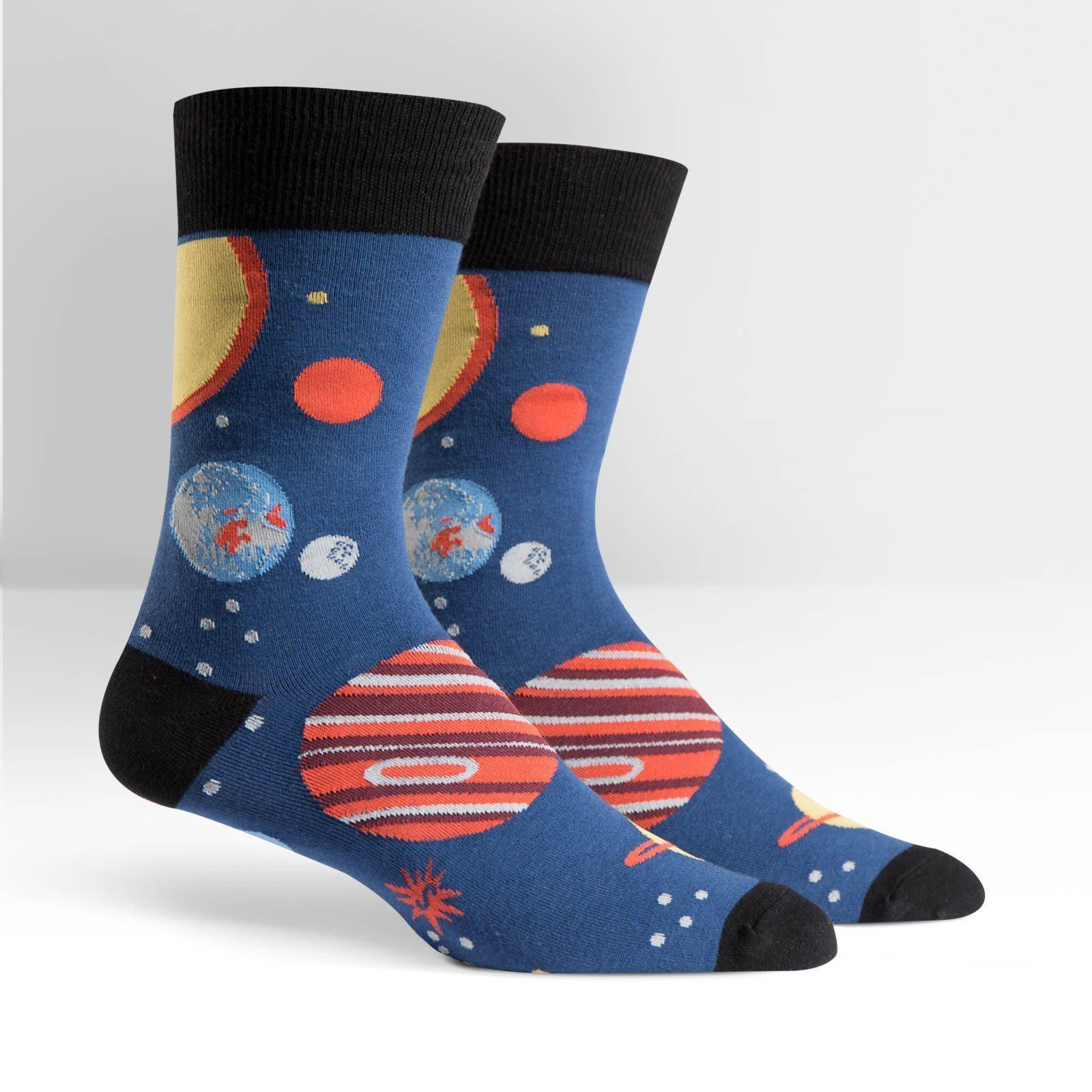 Sock It To Me - Planets Crew Socks | Men's - Knock Your Socks Off