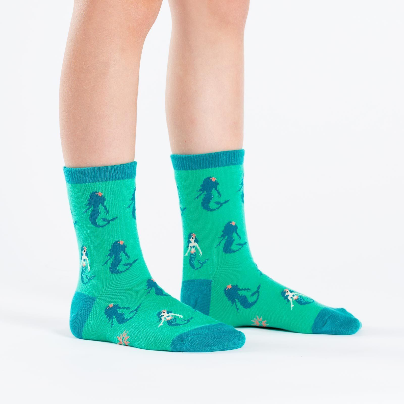 Sock It To Me - Princess of the Sea Youth Crew Socks | Kids' - Knock Your Socks Off